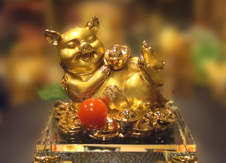 Heo vàng - Phong thủy