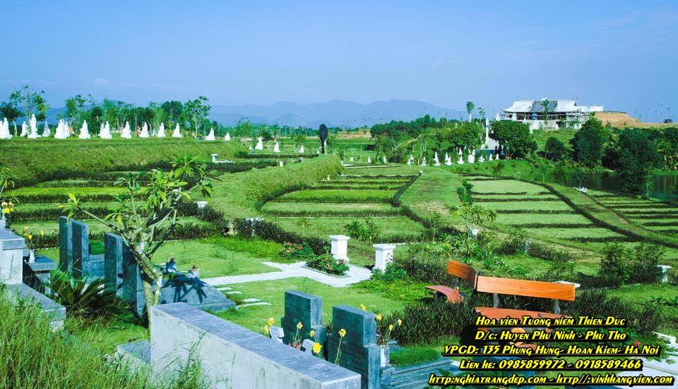 Khuôn viên mộ phần - gia đình - Tựa Sơn - Đạp Thủy - hoa viên Thiên Đức