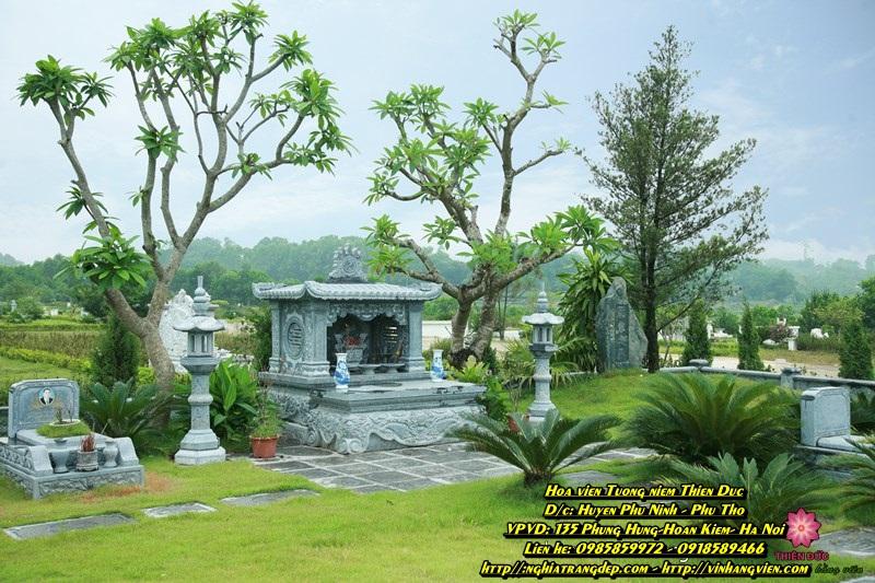 Khuôn viên mộ phần - gia tộc - 350m - Đồi Hoàng Long - Hoa viên Tưởng niệm Thiên Đức