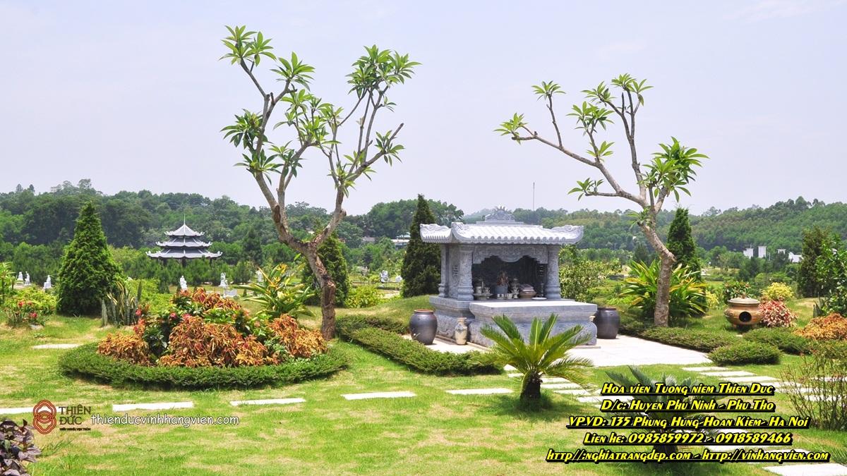 Khuôn viên mộ phần - gia tộc - 300m - Đồi Phượng Hoàng - nghĩa trang đẹp Thiên Đức