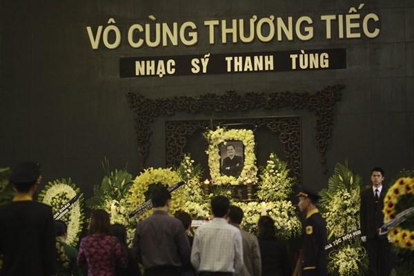 Tang lễ nhạc sỹ Thanh Tùng tổ chức vào sáng ngày 22/3/2016 tại Hà Nội